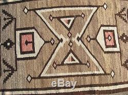 Navajo Native American Indian Rug ANTIQUE CRYSTAL REGIONAL RESERVATION RUG