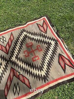 Navajo Rug Antique Vintage 56 x 81 inches Gorgeous Native American