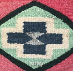 Navajo Rug Blanket Antique Native American Indian Pillow Weaving