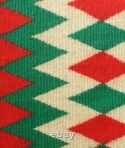 Navajo Rug Blanket Native American Antique Indian Germantown Yarn Weaving
