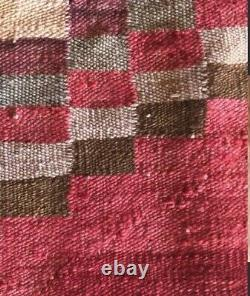 Navajo Rug Native American Antique Indian Germantown Saddle Blanket Weaving