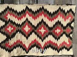 Navajo Rug Native American Blanket Transitional Weaving Indian Tapestry Antique