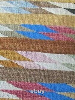 Navajo Rug Pony Saddle Blanket Throw Antique Native American Indian Weaving 1930