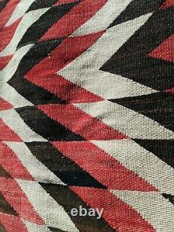 Navajo Rug Saddle Blanket Throw Antique Native American Indian Weaving 1910