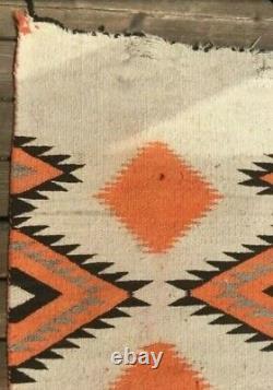 Navajo Rug Transitional Blanket Native American Indian Serape Antique Weaving