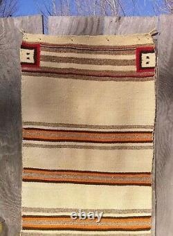 Navajo Rug Yei Saddle Blanket Native American Indian Yeibechai Antique Weaving