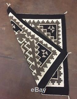 Nice! Native American (Navajo) Textile Two Grey Hills