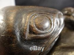 Northwest Coast Tlingit Haida Bowl Inuit Native Totem Carving Old c. 1920 NR