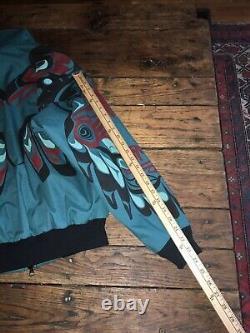 Nytom Vtg Jacket Sz S Native American Tribal Totem Northwest