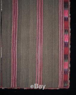 ORIGINAL C. 1910 RESIST-DYE PONCHO Yura Quechua Andean Highlands Exc. TM12776