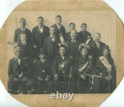Ojibwe Chippewa Native American Indian men tribe leaders antique photo