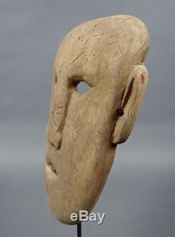 Old 1800s-early1900s Siberia Inuit Eskimo Wood SHAMAN MASK Siberian Native