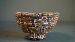 Old Antique Native American Northwest Partially Imbricated Nisqually Basket