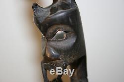 Old Carved Horn Northwest Coast Spoon or Ladle Totem Early Primitive Folk Art