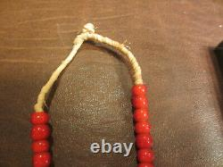 Old Native American Indian Hudson Bay Fur Trade Venetian Glass Bead Necklace #2