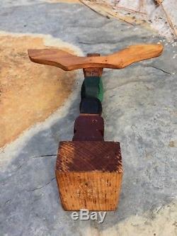 Old Northwest Coast Kwakiutl Cedar Totem Pole Ellen Neel Signed 59