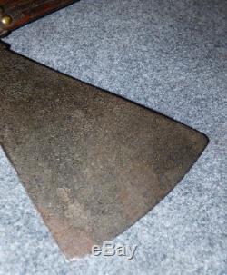 Old Plains Sioux Pipe Tomahawk Blacksmith Forged Head Gun Barrel Steel 1790