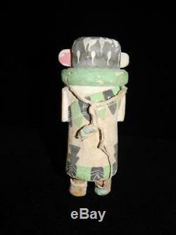 Old Vintage Antique Classic Stiff Arm Hopi Indian Kachina Doll Cottonwood Root