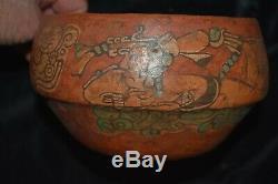 Orig $399. Pre Columbian Mayan Burial Bowl 8 Prov