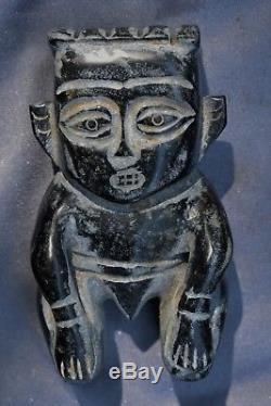 Orig $399. Pre Columbian Olmec Figure Stone 6 Provenance
