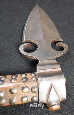 Original 1840 Osage Missouri War Axe Tomahawk Spontoon Head Beaded Socket Drop