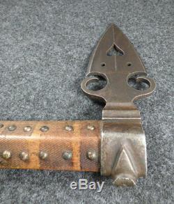 Original 1860 Osage Missouri War Axe Tomahawk Spontoon Head Beaded Socket Drop
