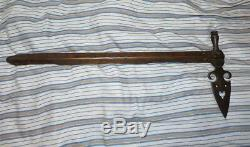Original Blackfoot Sioux Pipe Tomahawk Forged Iron Head Spontoon Form 1860