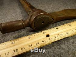 Original Fur Trade Era Indian SORBY Tomahawk Pipe Nice Small Head Long Bowl 1850