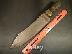 Original Jukes Coulson Indian Chief's Trade Knife Horn Handle Massive Blade 1850