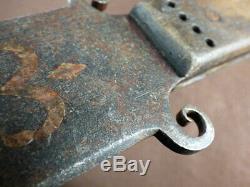 Original Large Hudson's Bay Company Dag Knife Inlaid Fleur-de-lis Early 1800's