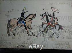 Original Native American Ledger Drawing Lakota Sioux 1905