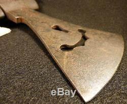 Original Osage Indian Missouri River War Axe Tomahawk Wing Cutaway Blade c1880