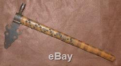 Original Sioux Indian Pipe Tomahawk RARE Buffalo Society Forged Head Mid 1800's