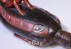 Oystercatcher and Figure Ceremonial Rattle Canada North West Coast