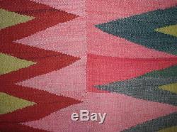 PHENOMENAL & GORGEOUS WEDGE-WEAVE Navajo-like ART Antique Andean Blanket TM12954