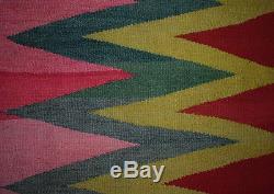 PHENOMENAL WEDGE-WEAVE Navajo-Like TEXTILE ART Antique Andean Blanket TM12954