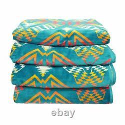 Pendleton Set of 4 Oversized Beach Spa Bath Towels Native American Aztec 40x70