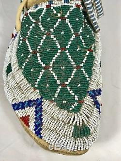 Plains Indian Beaded Moccasins Pair #1