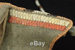 Plains indians knife and sheath with very fine quill worlk- Native American