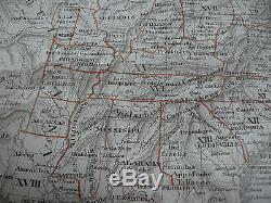 Pre-CIVIL WAR ca1850 MAP NORTH AMERICA Native American Indian Locations German