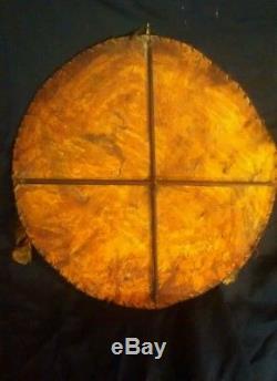 Primitive Antique 19th C Native American Plains Indian Ceremonial War Shield