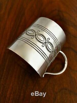 Pristine N. Nez Navajo Native American Sterling Silver Baby Cup No Monogram