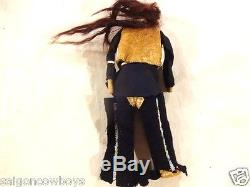 RARE Antique 19th Cen. Plains Indian Doll Scalp Type 1800s Native American Hide