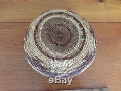 RARE Northern California Native American Indian Hupa Antique Basket