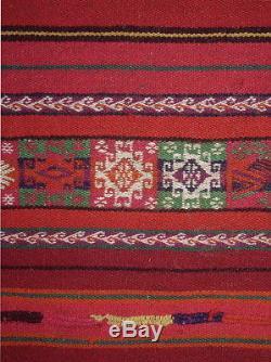 RARE TEXTILE ART MASTERPIECE Aymara Indian Antique Awayu Pristine Cond. TM12876