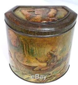 Rare Antique Macfarlane Lang Hiawatha Native American Indian Biscuits Tin 1894