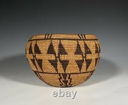 Rare Antique Native American California Basket Tubatulabal / Panamint
