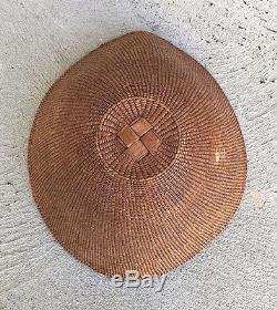 Rare Antique Northwest Coast Haida Basketry Hat