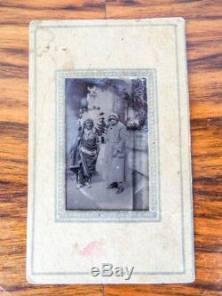 Rare Antique Tintype Native American Indian Photo Chief Photograph