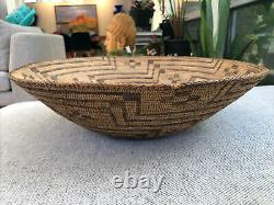 Rare Early Southwest Native American Indian Basket Basketry Tray 17.5